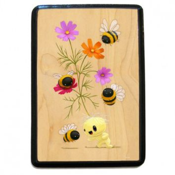 Fine Art Wooden Plaque - Cosmo Bumble