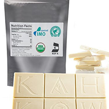 Caribbean Cacao Certified Organic Cocoa Butter, Kosher, Food-Grade & Edible. Pure, Raw, Unrefined. 10% bonus, 1.1 LB. Incredible Quality and Scent. Rainforest Alliance Certified. Use for Baking, Lotion, Cream, Lip Balm, Oil, Stick, or Body Butter