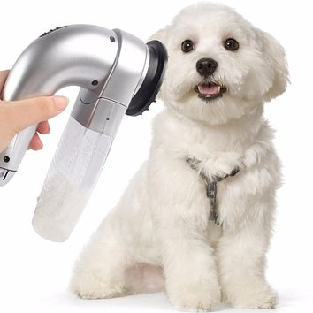 Pet Hair Vac Vacuum Removal Fur Suction Grooming Device Pets Dog Accessories Incredible Cordless Pet Vac Gray