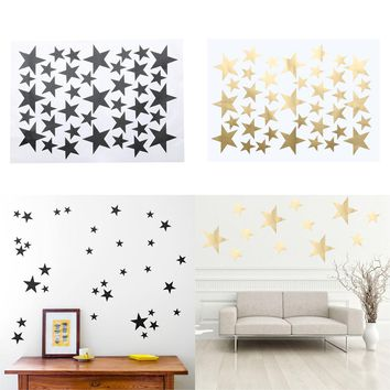 DIY 39pcs Little Gold Star Stickers Home Decor Living Room Decorative Wall Stickers Vinyl Stickers For Kids Nursery Rooms