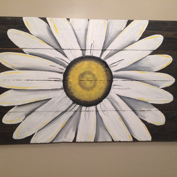 Reclaimed Wood Art, sunflower sign, custom reclaimed wood decor.  Personalized pallet art