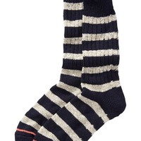 Old Navy Mens Wool Blend Socks Size One Size - Oatmeal Stripe