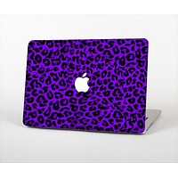 The Vibrant Violet Leopard Print Skin Set for the Apple MacBook Pro 13""