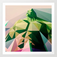"Hulk ""Vector"" Art Print by Nostromo"