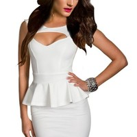 Ninimour- Fashion Women's Peplum Dress Gown Party Cocktail Clubwear