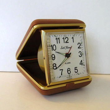 Vintage Seth Thomas, Wind Up Working Travel Alarm Clock, Home and Living, Home Decor, circa 50's
