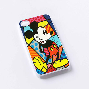 Mickey Mouse romero Britto art iPhone 4/4S, 5/5S, 5C,6,6plus,and Samsung s3,s4,s5,s6
