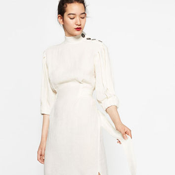 LINEN STUDIO DRESS - View All-DRESSES-WOMAN | ZARA United States