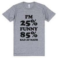 Funny/Math Ratio-Unisex Athletic Grey T-Shirt