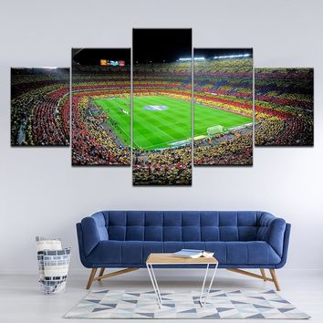 Canvas Painting spain fc barcelona sports football 5 Pieces Wall Art Painting Modular Wallpapers Poster Print Home Decor Artwork
