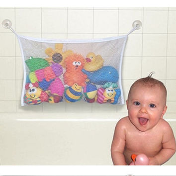 Kids Baby Bath Tub Toy Tidy Storage Suction Cup Bag Mesh Bathroom Organiser Net kids toys