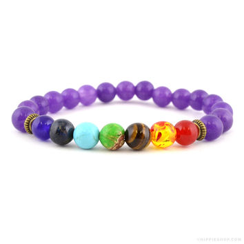 Amethyst Chakra Bracelet on Sale for $14.99 at The Hippie Shop
