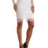 Lace Midi Skirt by Charlotte Russe