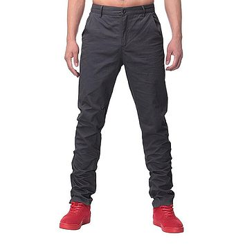 2018 Brand Spring Casual Pants New Fashion Slim Straight Men Cargo Pants Man Long chinos Trousers Business Pants Suits