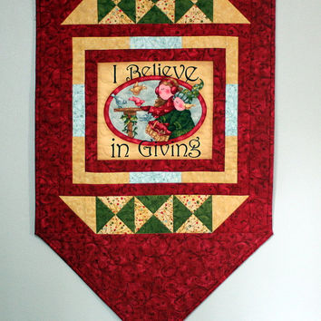 Quilted Wall Hanging - Christmas Winter Wall Hanging - Christmas Banner