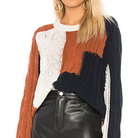 360CASHMERE Marie Sweater in Marble & Rust & Navy   REVOLVE