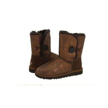DCCKIN2 Ugg Boots Sale Bailey Button Fancy 5809 Brown For Women 108 90