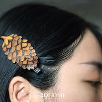 pine cone hand-painted hairpin jewelry for her him beautiful surprise gift 14