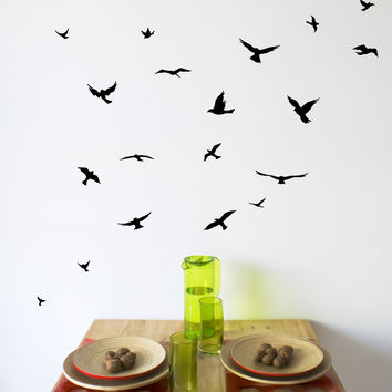 Flock of Birds Wall Decals