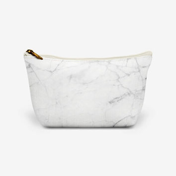 White Marble Makeup Bag | Marble Clutch | Marble Wash Bag | Marble Cosmetic Bag