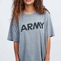 Urban Renewal Vintage Originals Oversized Army Tee in Grey - Urban Outfitters