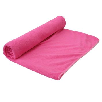 70*140cm Bath Swim Beach Sport Absorbent Towels Drying Camping Swimwear Fiber Shower Towels Green/Pink