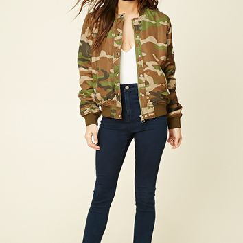 Padded Camo Bomber Jacket