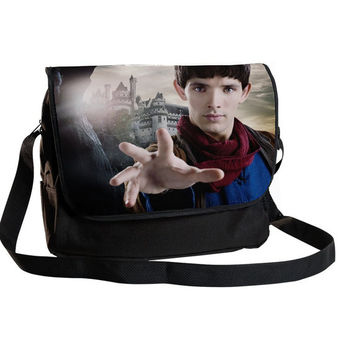 "MERLIN - High quality 12"" Messenger bag & FREE gift. Free shipping    (shoulder,cross body,school,gift)"