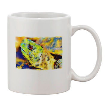 Menacing Turtle Watercolor Printed 11oz Coffee Mug