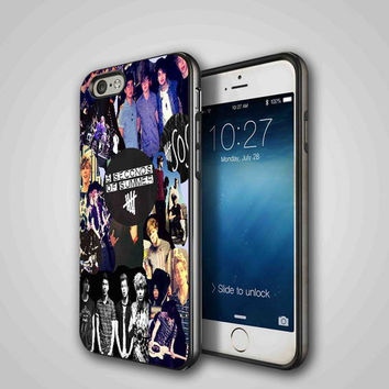5 Seconds Of Summer Collage, iPhone 4/4S, 5/5S, 5C Series Hard Plastic Case