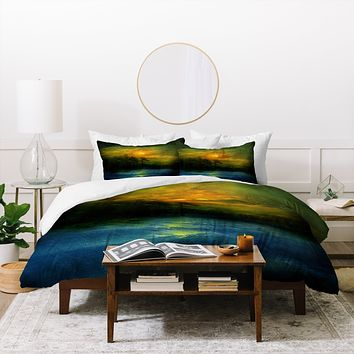 Viviana Gonzalez Hope In The Blue Water Duvet Cover