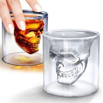 25ml New Halloween Skull Head Wine Glass