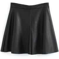 Sexy Faux Leather Skirt - OASAP.com