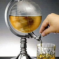 Globe Shaped Beverage Dispenser Beer Drink 65 oz Tap Bar Liquor 1/2 Gallon World