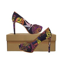 halloween witch Women's High Heels (Model 044)