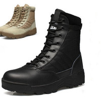 New America Sport Army Men's Tactical Boots Desert Outdoor Hiking Leather Boots Military Enthusiasts Marine Male Combat Shoes [8322972993]