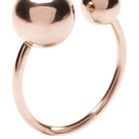 Modern Double Ball Ring - Happiness Boutique