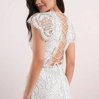 Ace of Lace Up Back Romper