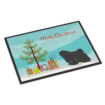 Puli Merry Christmas Tree Indoor or Outdoor Mat 24x36 BB2981JMAT