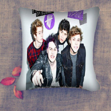 Seconds of Summer 5 SOS dont stop pillow case/ Pillow Cover/ 16 x 16/ 18 x 18/ 16 x 24/ 20 x 30/ 20 x 36