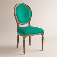 Emerald Paige Round Back Dining Chairs, Set of 2 - World Market