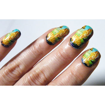 Painting Nail Polish Art Nails Birth of Venus Botecilli Women Manicure Gothic Pedicure Art History