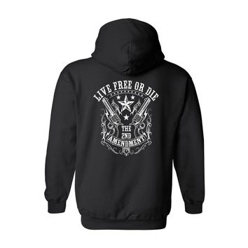 Unisex Pullover Hoodie Live Free or Die 2nd Amendment