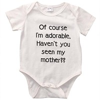 Newborn Infant Baby Boys Girls Cotton Short Sleeve Cotton Romper Jumpsuit Outfits Clothes