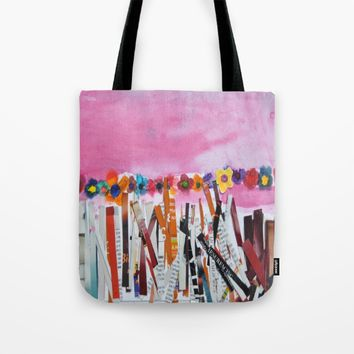FLOWERS STiLL GROW Tote Bag by Azima