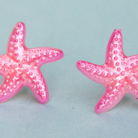 Pink Starfish Earrings 10% of this sale will go to Sea Shepherd Conservation Society