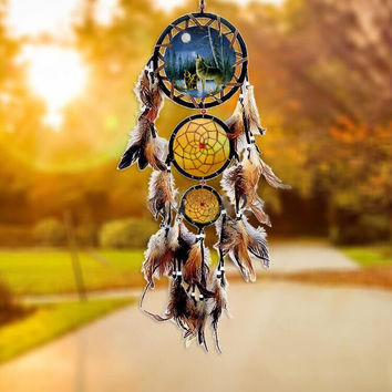 Vintage Dream Catcher Totem Home Decor Handcrafts Car Pendant [6284170310]