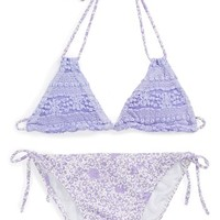 To The 9's Lace Two-Piece Swimsuit (Big Girls) | Nordstrom