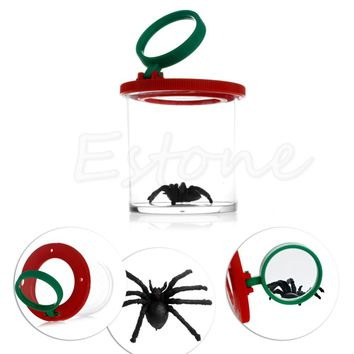Bug Box Magnify Insects Viewer 2 Lens 4x Magnification Childs Toy Entomologists