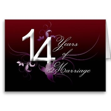 14 Years of Marriage (wedding anniversary) Card